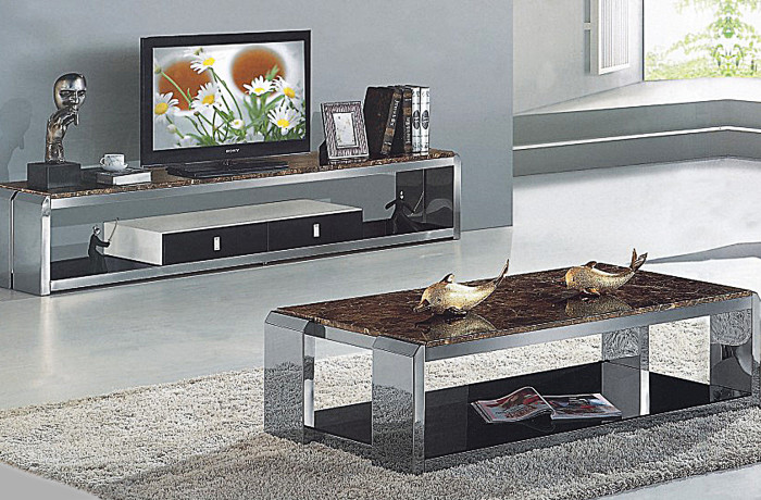 Marble Coffee Table And Plasma Unit