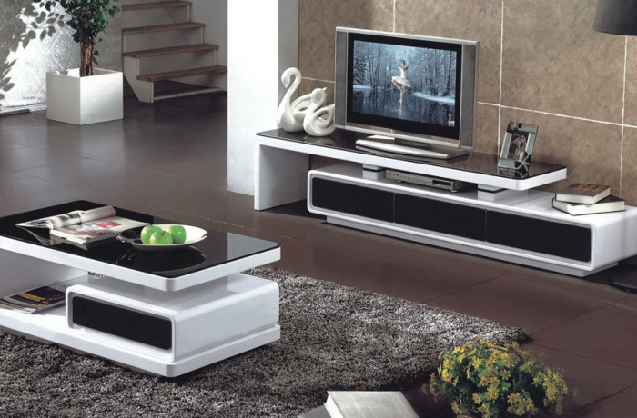 Modern Coffee Table and Plasma Unit