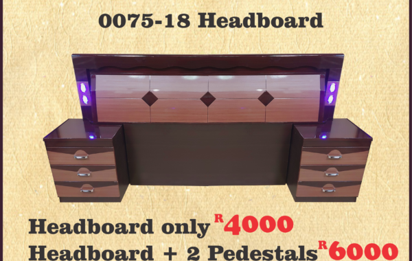 0075-18 BROWN HEADBOARD