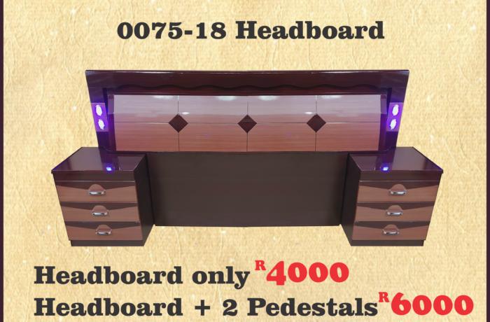 0075-18 BROWN HEADBOARD