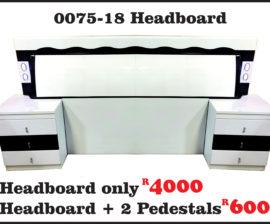 0075-18 WHITE HEADBOARD