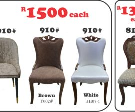 910#, R910# and 8101# Dining Chairs
